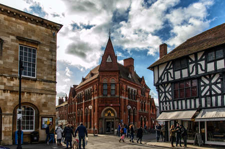 birthplace: STRATFORD-UPON-AVON , ENGLAND - January 31th: Stratford-Upon-Avon in England, as seen on JULY 25th, 2014. It is a market town most famously known as the birthplace of William Shakespeare.