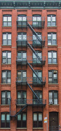 tenement: Typical tenement in Manhattan, New York Stock Photo