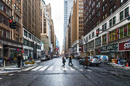 Typische Scène Street New York, Verenigde Staten
