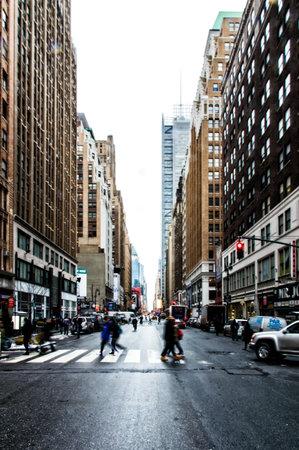 Typical Street Scene New York, USA