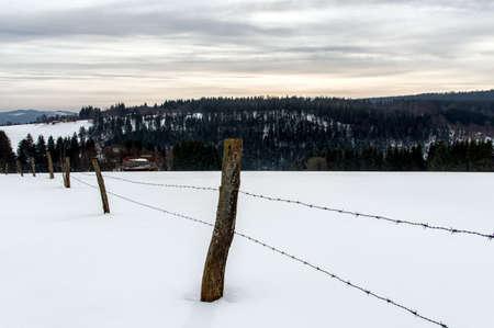 winter landscape in NeuAstenberg, Sauerland, Germany photo