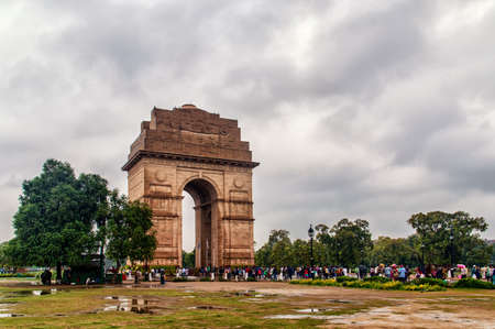 India Gate, New Delhi, India .commemoration of the 90,000 soldiers of the British Indian Army who lost their lives in British Indian Empire