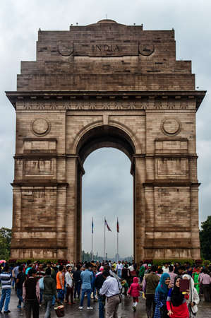 india gate: India Gate, New Delhi, India .commemoration of the 90,000 soldiers of the British Indian Army who lost their lives in British Indian Empire