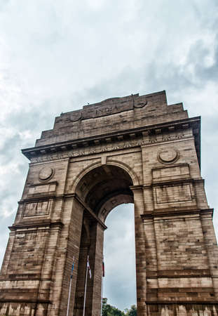 victorian architecture: India Gate, New Delhi, India .commemoration of the 90,000 soldiers of the British Indian Army who lost their lives in British Indian Empire