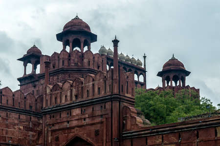 mughal architecture: Lal Qila - Red Fort in Delhi, India Editorial