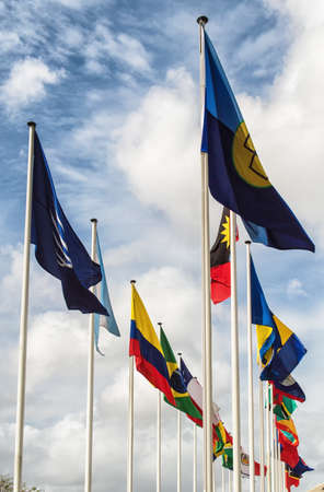 United Flags of different countries photo