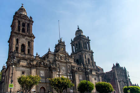 cathedrals: Detail of The Metropolitan Cathedral (Cathedral Metropolitana) in Mexico City