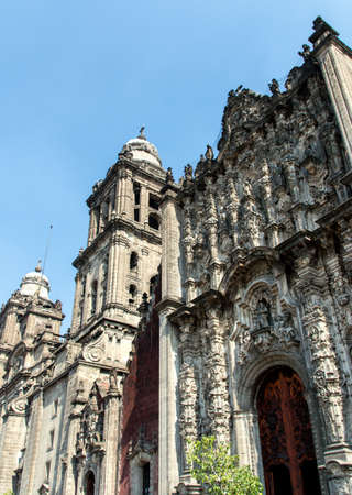 Detail of The Metropolitan Cathedral (Cathedral Metropolitana) in Mexico City photo