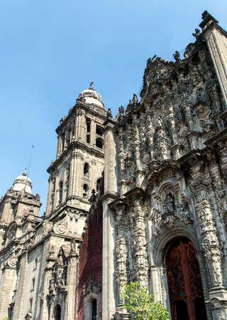 metropolitan: Detail of The Metropolitan Cathedral (Cathedral Metropolitana) in Mexico City