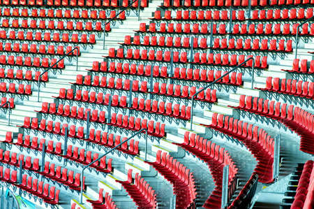 sequential: Red Stadium Seats Stock Photo