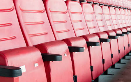 sequential: Red Stadium Seats Editorial