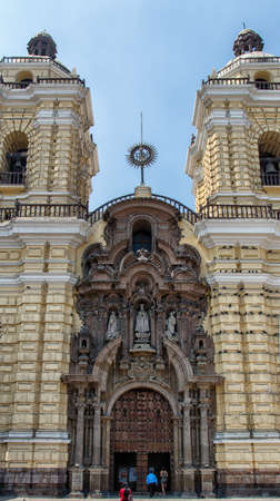LIMA - PERU: San Francisco church in the down town of the city photo