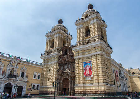 down town: LIMA - PERU: San Francisco church in the down town of the city
