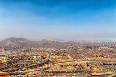 panoramic view of Lima city, Peru Фото со стока