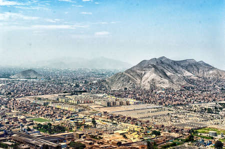 panoramic view of Lima city, Peru Фото со стока - 39500973