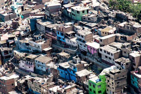 Architectural Chaos in poverty zones, Lima, Peru photo