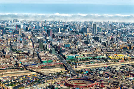 panoramic view of Lima city, Peru Редакционное