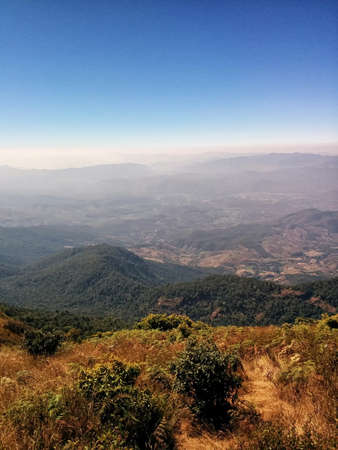 high section: landscape shot at the top of hill at Northern thailand