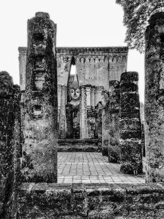 ajana: Pra Ajana at Wat Si Chum Sukhothai Historical Park Thailand. Stock Photo