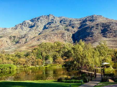 are hidden: View of the farm Hidden Valley STELLENBOSCH SOUTH AFRICA