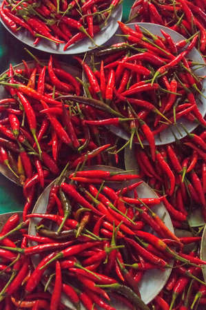 marbled effect: Chili Pepper Red in Thailand Stock Photo