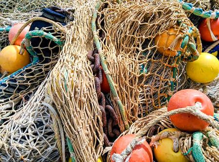 trawler: Fishing nets on a trawler