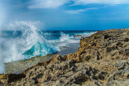 boka: Shete Boka National park Curacao in the Dutch Antilles a Caribbean Island