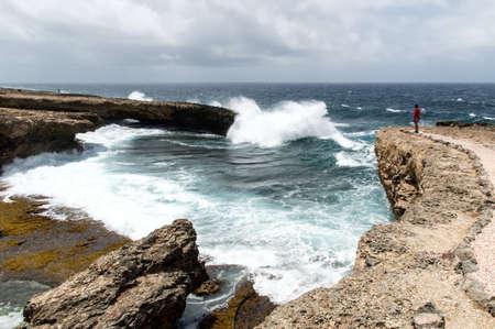 boka: Shete Boka National park -Views around Curacao Caribbean island