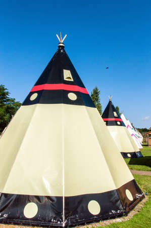 tipi: Modern Teepee at a Campingsite