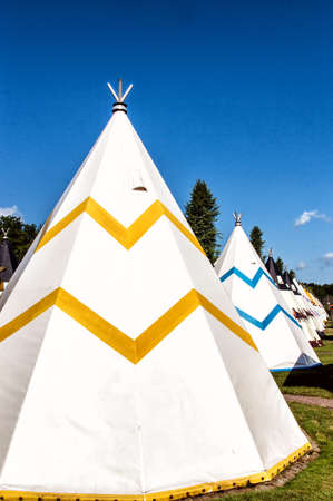 juxtaposition: Modern Teepee at a Campingsite