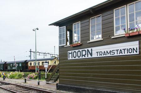 hoorn: Hoorn,Noord-Holland, The Netherlands - August 12, 2015: Steam train termini railway station between the towns of Hoorn, Medemblik and Enkhuizen.