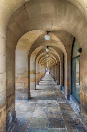 passageway: Passageway at Central Library, Manchester; England; UK