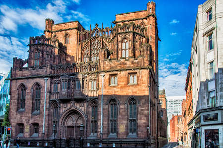 english famous: Manchester - city in North West England (UK). Famous John Rylands Library.