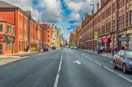 city centre: Typical Street in Manchester, England Editorial