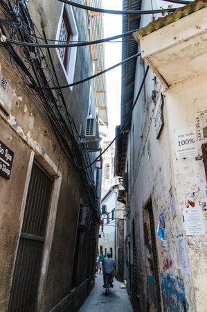 zanzibar: An alleyway in Stone Town on the island of Zanzibar