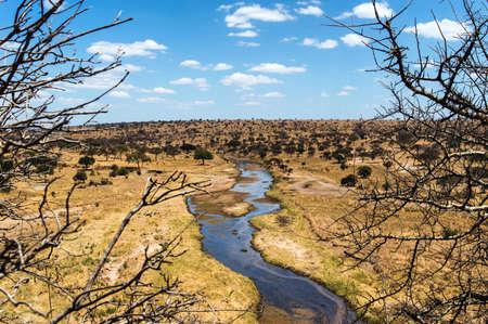 looking into: Mara River looking into Tanzania Stock Photo