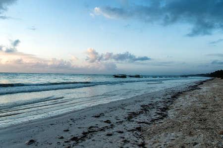 fishingboats: Fishingboats near the beach in Zanzibar, Tanzania