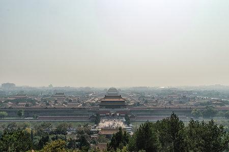 Forbidden City: Forbidden city in Beijing viewed from Jinshan Park