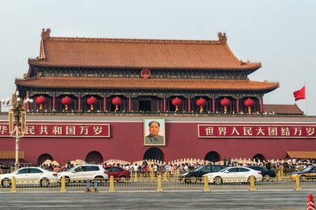紫禁城の中国北京天安門入り口