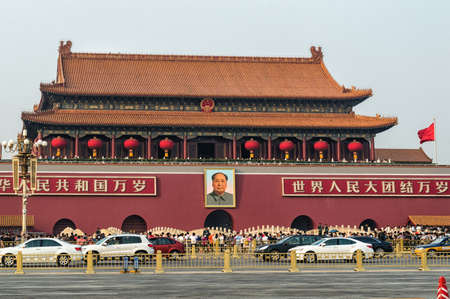 China Beijing Tiananmen gate entrance to Forbidden city