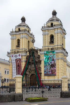 ancash: Lima, Peru: Basilica of San Francisco - part of a Franciscan monastery - corner of Ancash and Lampa streets - Historic Centre of Lima, Unesco World Heritage Site