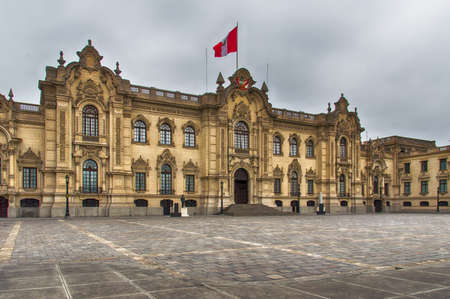 pizarro: Lima, Peru: Government Palace , Residence of the President ,known as House of Pizarro in the Historic Centre of Lima, Unesco World Heritage Site,