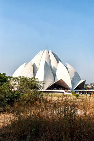 bahai: The Lotus Temple, located in New Delhi, India, is a Bahai House of Worship