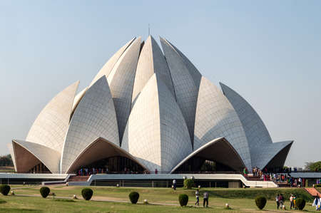 the house of worship: The Lotus Temple, located in New Delhi, India, is a Bahai House of Worship
