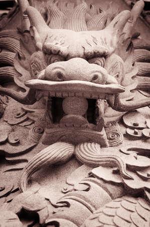 dragon chinois: Chinese Dragon in Hongkong, China Banque d'images