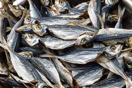 chinese fishing nets: Background of Salted Fishes in Tai o Fishing village, Lantau Island, Hong Kong Stock Photo