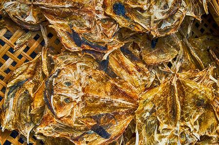 Salted Fish in Tai o, on Lantau Island, Hong Kong. Banco de Imagens