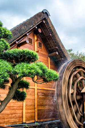 water wheel: A water wheel consists of a large wooden wheel.
