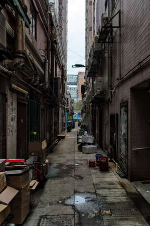 back alley: An old back alley central Hong Kong Editorial