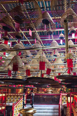 directly below: Incense Cones in Chinese Temple, Man Mo Temple, Hong Kong, China
